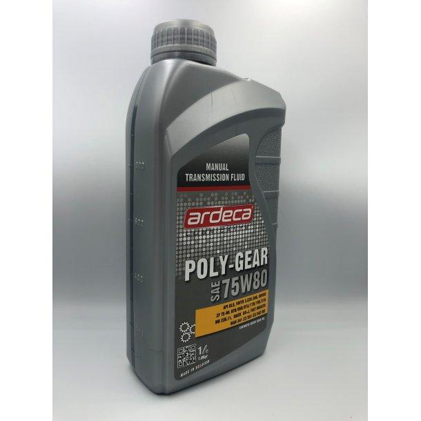 Gearolie Poly Gear 75w80 - 1 ltr