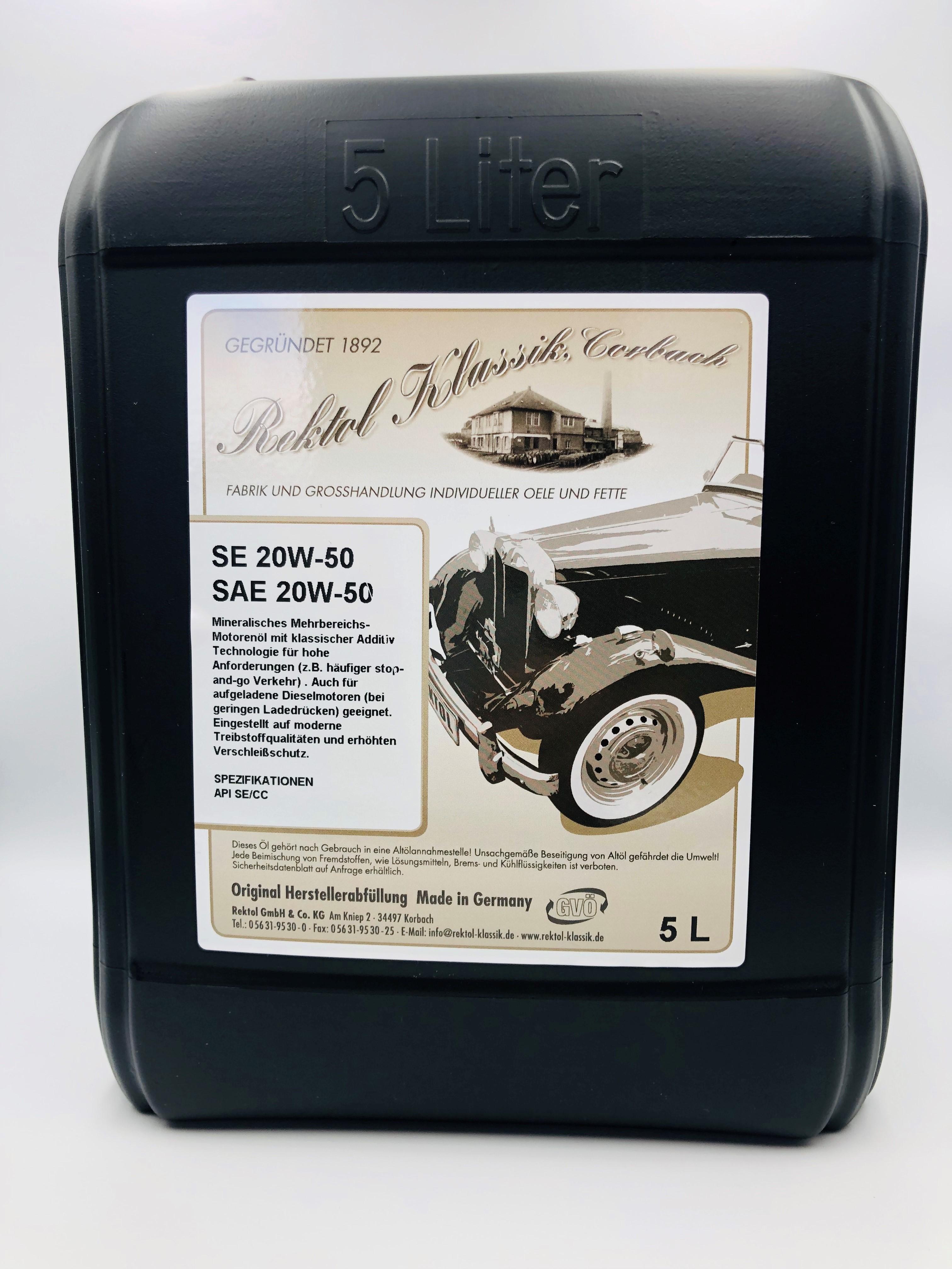 Nye Rektol Klassik SE 20w50 - 5 Liter PB-86